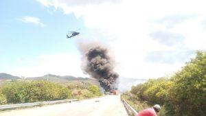 Helicóptero sobrevuela en Huitzo