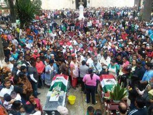 Homenaje a Anselmo Cruz y Omar González en Tlaxiaco